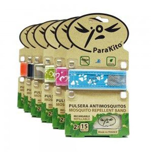 Para`kito pulsera repelente insectos (1 pulsera 2 pastillas)