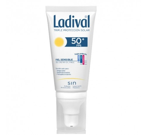 Ladival facial piel sensible fps 50+ (gel-crema 50 ml)