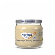 Nutriben potito inicio a las multifrutas - manzana naranja platano y melocoton (120 g)