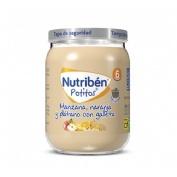 Nutriben potito merienda - manzana naranja y platano con galleta (190 g)
