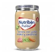 Nutriben ternera con judias verdes y zanahorias (potito 235 g)