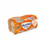 Nutriben potito inicio a la merienda - manzana naranja y platano con galleta (2 x 120 g)