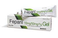 FEPARIL 10mg/g + 50mg/g GEL , 1 tubo de 40 g