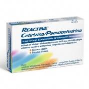 REACTINE CETIRIZINA/PSEUDOEFEDRINA 5mg/120mg COMPRIMIDOS DE LIBERACION PROLONGADA , 14 comprimidos